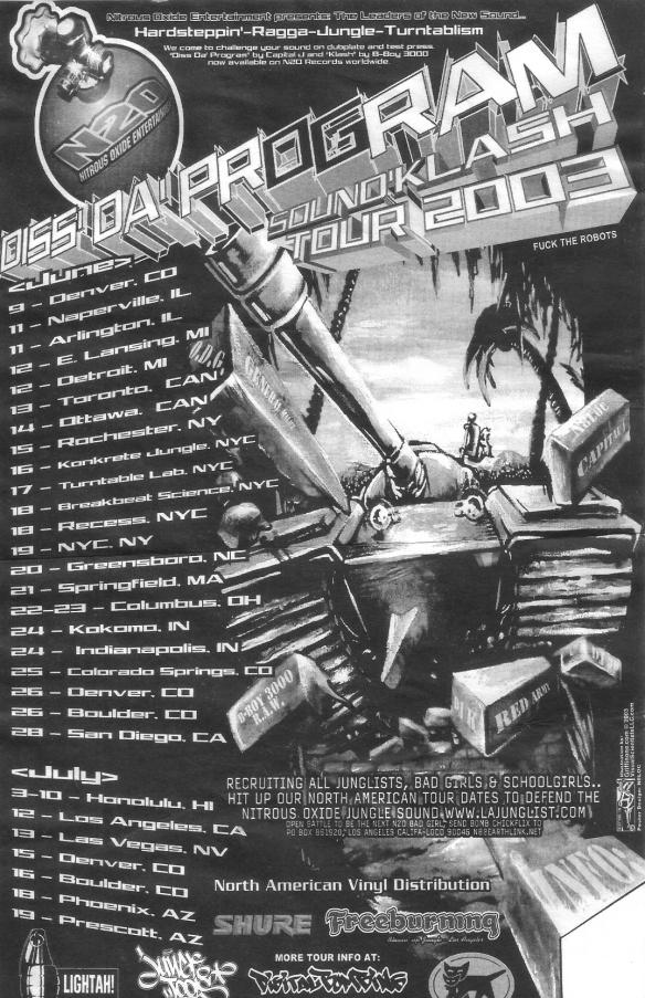 diss da program tour 2003