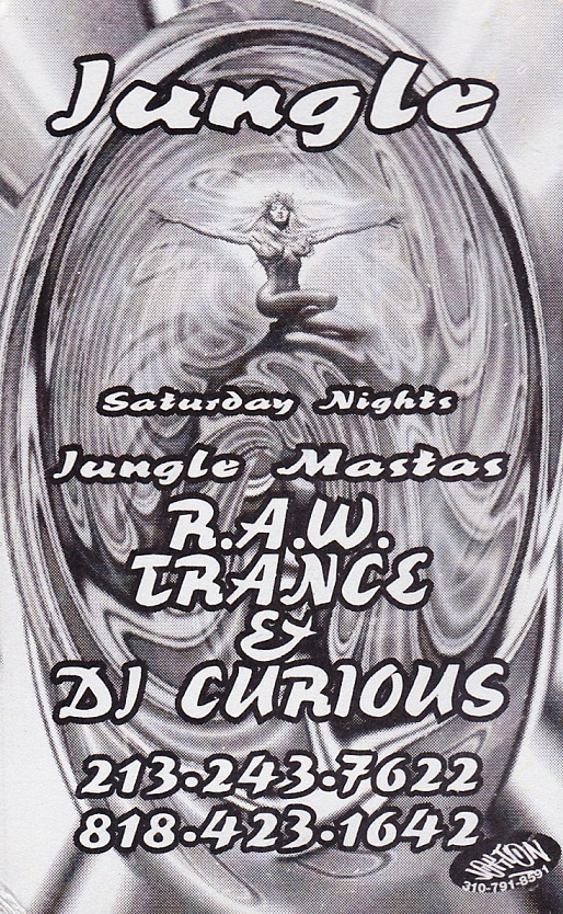 The original JUNGLE flyer from L.A.