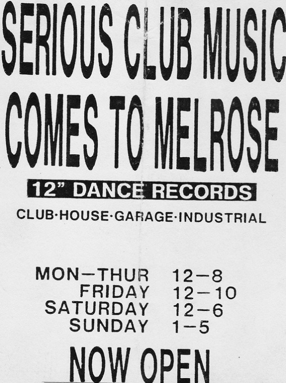 MELROSE RECORD STORE FLYER