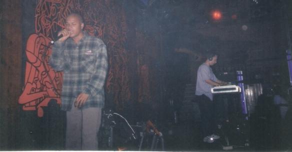 MC Me and Sychronome playing the Troubadour