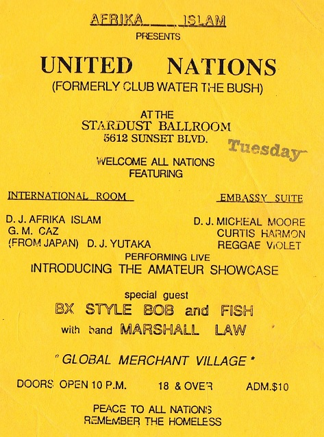 UNITED NATIONS featuring BRONX STYLE BOB